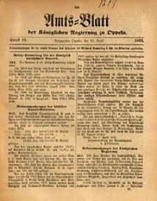 Amts-Blatt der Königlichen Regierung zu Oppeln, 1893, Bd. 78, St. 16