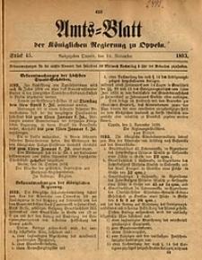 Amts-Blatt der Königlichen Regierung zu Oppeln, 1893, Bd. 78, St. 45