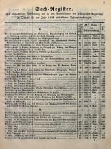 Sach-Register oder alphabetische Darstellung der in den Amtsblättern der Königlichen Regierung in Oppeln für das Jahr 1894 enthaltenen Bekanntmachungen