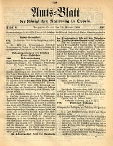 Amts-Blatt der Königlichen Regierung zu Oppeln, 1896, Bd. 81, St. 8
