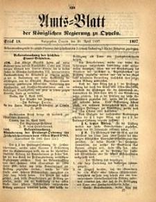 Amts-Blatt der Königlichen Regierung zu Oppeln, 1897, Bd. 82, St. 18