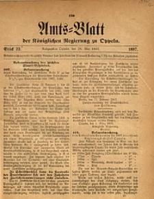 Amts-Blatt der Königlichen Regierung zu Oppeln, 1897, Bd. 82, St. 22