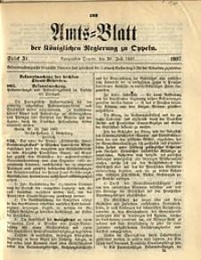 Amts-Blatt der Königlichen Regierung zu Oppeln, 1897, Bd. 82, St. 31