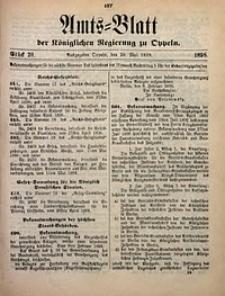 Amts-Blatt der Königlichen Regierung zu Oppeln, 1898, Bd. 83, St. 20