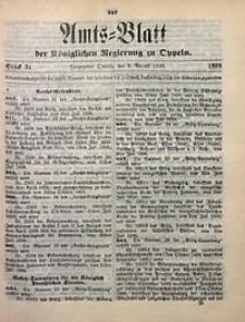 Amts-Blatt der Königlichen Regierung zu Oppeln, 1898, Bd. 83, St. 31