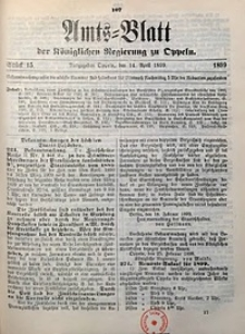 Amts-Blatt der Königlichen Regierung zu Oppeln, 1899, Bd. 84, St. 15