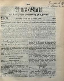Amts-Blatt der Königlichen Regierung zu Oppeln, 1899, Bd. 84, St. 33