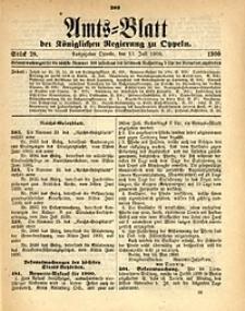 Amts-Blatt der Königlichen Regierung zu Oppeln, 1900, Bd. 85, St. 28