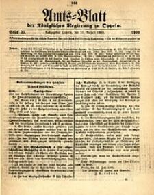 Amts-Blatt der Königlichen Regierung zu Oppeln, 1900, Bd. 85, St. 35