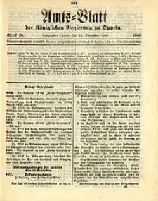 Amts-Blatt der Königlichen Regierung zu Oppeln, 1900, Bd. 85, St. 38