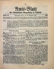 Amts-Blatt der Königlichen Regierung zu Oppeln, 1901, Bd. 86, St. 46