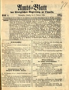 Amts-Blatt der Königlichen Regierung zu Oppeln, 1904, Bd. 89, St. 1