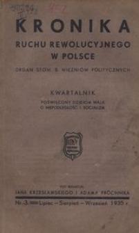 Kronika Ruchu Rewolucyjnego w Polsce, 1935, R.1, nr 3