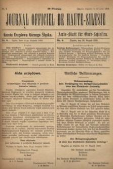 Journal Officiel de Haute-Silesie, 1920, nr 6