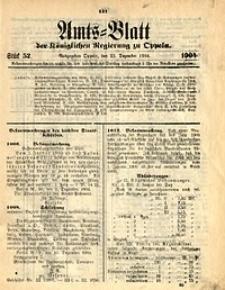 Amts-Blatt der Königlichen Regierung zu Oppeln, 1904, Bd. 89, St. 52