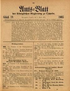 Amts-Blatt der Königlichen Regierung zu Oppeln, 1905, Bd. 90, St. 14