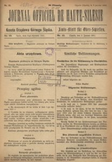 Journal Officiel de Haute-Silesie, 1921, nr 12