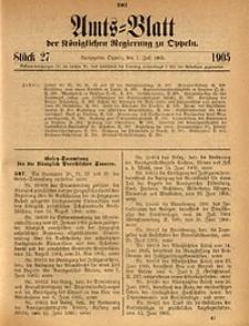 Amts-Blatt der Königlichen Regierung zu Oppeln, 1905, Bd. 90, St. 27