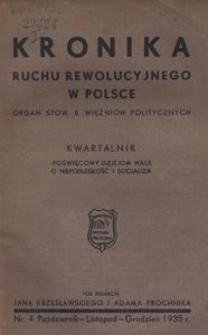 Kronika Ruchu Rewolucyjnego w Polsce, 1935, R.1, nr 4