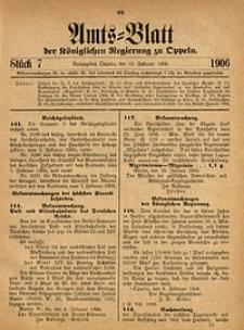 Amts-Blatt der Königlichen Regierung zu Oppeln, 1906, Bd. 91, St. 7
