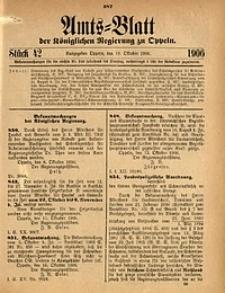 Amts-Blatt der Königlichen Regierung zu Oppeln, 1906, Bd. 91, St. 42