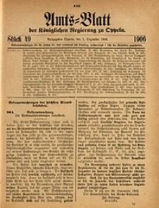 Amts-Blatt der Königlichen Regierung zu Oppeln, 1906, Bd. 91, St. 49