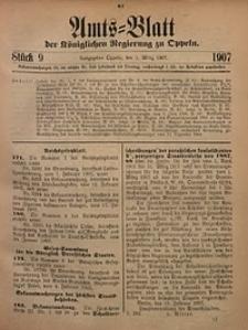 Amts-Blatt der Königlichen Regierung zu Oppeln, 1907, Bd. 92, St. 9
