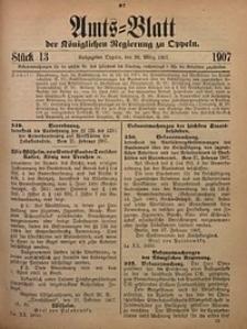 Amts-Blatt der Königlichen Regierung zu Oppeln, 1907, Bd. 92, St. 13