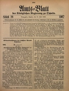 Amts-Blatt der Königlichen Regierung zu Oppeln, 1907, Bd. 92, St. 26