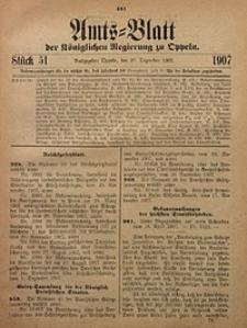 Amts-Blatt der Königlichen Regierung zu Oppeln, 1907, Bd. 92, St. 51