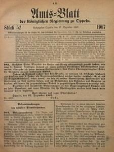 Amts-Blatt der Königlichen Regierung zu Oppeln, 1907, Bd. 92, St. 52