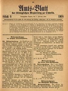 Amts-Blatt der Königlichen Regierung zu Oppeln, 1908, Bd. 93, St. 6