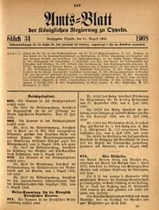 Amts-Blatt der Königlichen Regierung zu Oppeln, 1908, Bd. 93, St. 34
