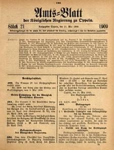 Amts-Blatt der Königlichen Regierung zu Oppeln, 1909, Bd. 93, St. 21