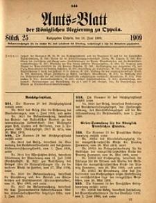 Amts-Blatt der Königlichen Regierung zu Oppeln, 1909, Bd. 93, St. 25