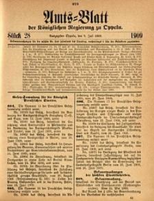 Amts-Blatt der Königlichen Regierung zu Oppeln, 1909, Bd. 93, St. 28