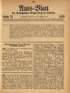 Amts-Blatt der Königlichen Regierung zu Oppeln, 1910, Bd. 95, St. 41