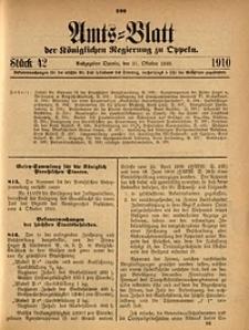 Amts-Blatt der Königlichen Regierung zu Oppeln, 1910, Bd. 95, St. 42