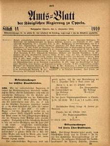 Amts-Blatt der Königlichen Regierung zu Oppeln, 1910, Bd. 95, St. 44