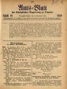 Amts-Blatt der Königlichen Regierung zu Oppeln, 1910, Bd. 95, St. 46