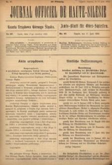 Journal Officiel de Haute-Silesie, 1922, nr 37