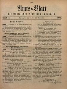 Amts-Blatt der Königlichen Regierung zu Oppeln, 1884, Bd. 69, St. 47