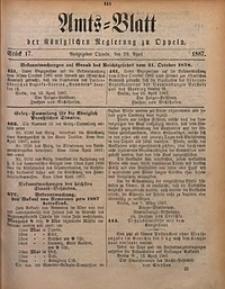 Amts-Blatt der Königlichen Regierung zu Oppeln, 1887, Bd. 72, St. 17