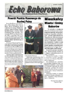 Echo Baborowa : pismo mieszkańców miasta i gminy Baborów 2007, nr 2.