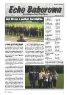 Echo Baborowa : pismo mieszkańców miasta i gminy Baborów 2007, nr 7.