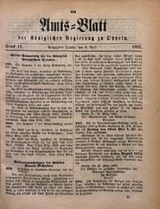 Amts-Blatt der Königlichen Regierung zu Oppeln, 1883, Bd. 68, St. 14