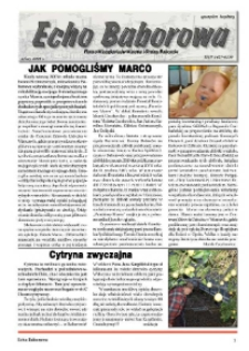 Echo Baborowa : pismo mieszkańców miasta i gminy Baborów 2008, nr 2.