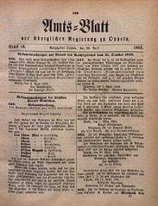 Amts-Blatt der Königlichen Regierung zu Oppeln, 1883, Bd. 68, St. 16