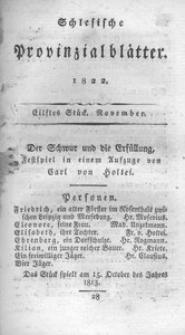 Schlesische Provinzialblätter, 1822, 76. Bd., 11. St.: November