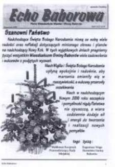 Echo Baborowa : pismo mieszkańców miasta i gminy Baborów 2009, nr 9.